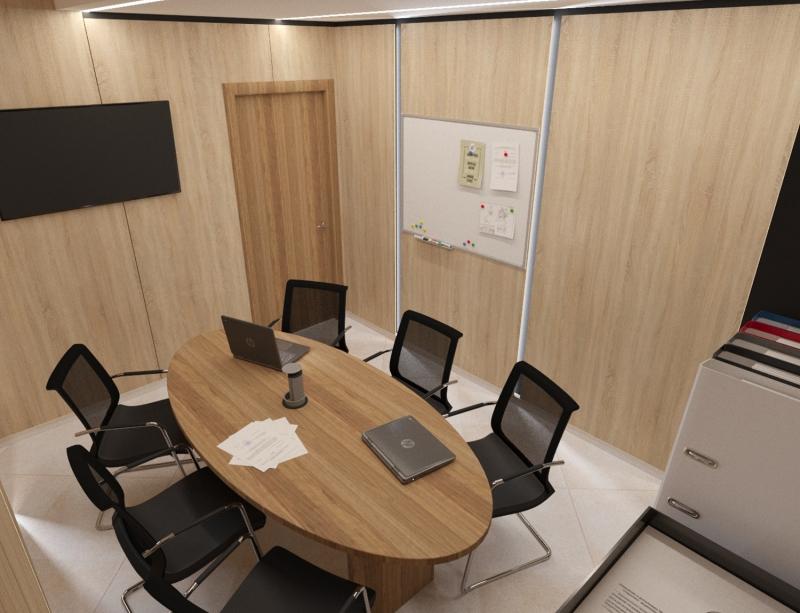 """Дизайн интерьера офиса компании """"Атом"""" в г. Хабаровск, кабинет переговоров"""