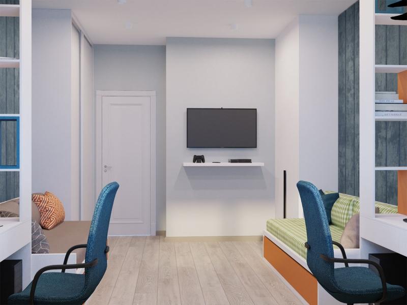 Дизайн - проект квартиры по ул. Некрасова в г. Хабаровск, эскизы детской комнаты