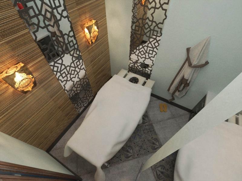 Дизайн интерьера сауны - хаммам, массажный кабинет