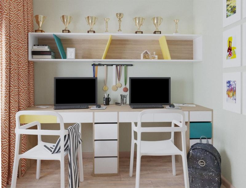Дизайн интерьера детской комнаты для двух девочек г. Хабаровск