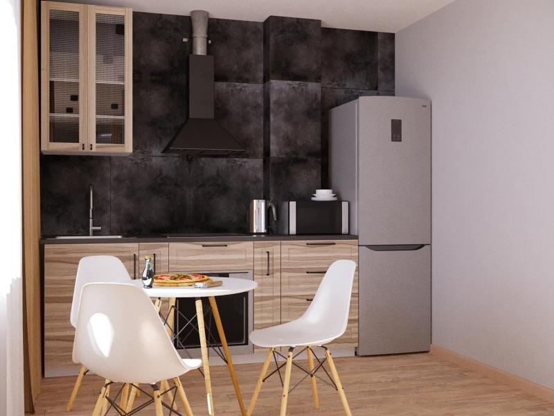 экспресс - проект в стиле лофт, Казачья гора 15, г. Хабаровск, дизайн кухни