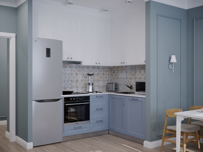 Дизайн - проект квартиры по ул. Некрасова в г. Хабаровск, эскизы кухни - гостиной