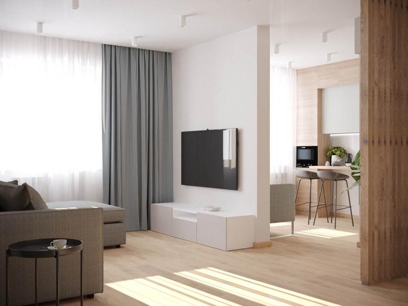 Дизайн - проект однокомнатной квартиры в г. Геленджик, гостиная
