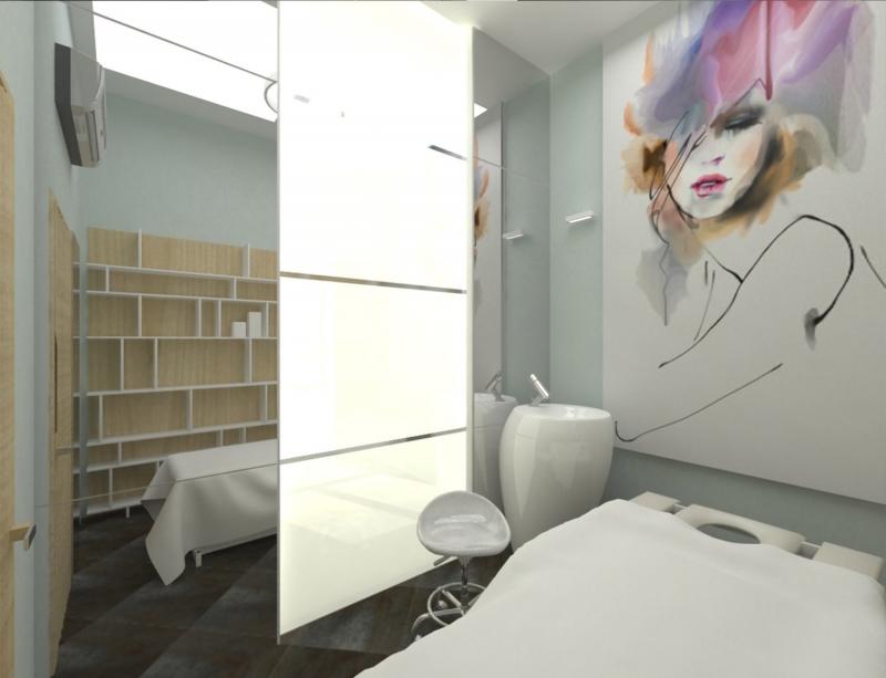 Дизайн-проект салона красоты Образ в г. Хабаровск по ул. Волочаевская