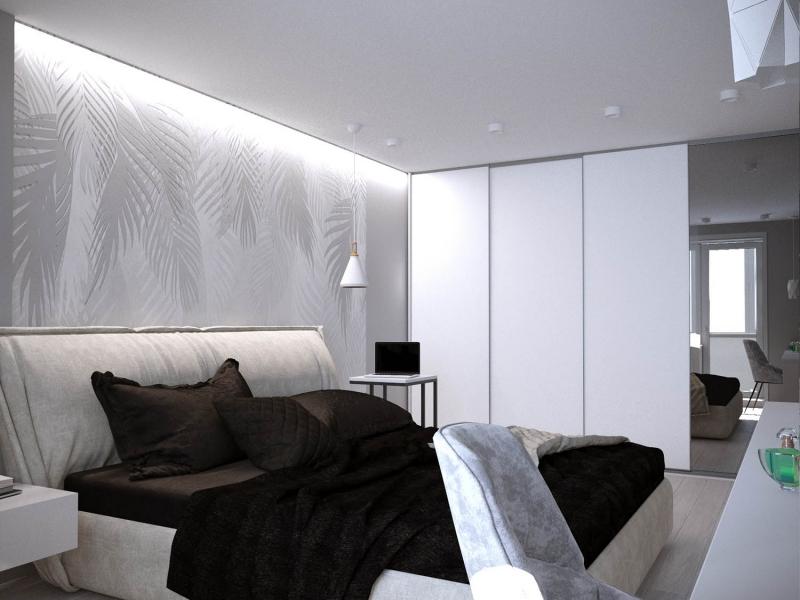 экспресс - проект двухкомнатной квартиры в стиле модерн, дизайн спальни