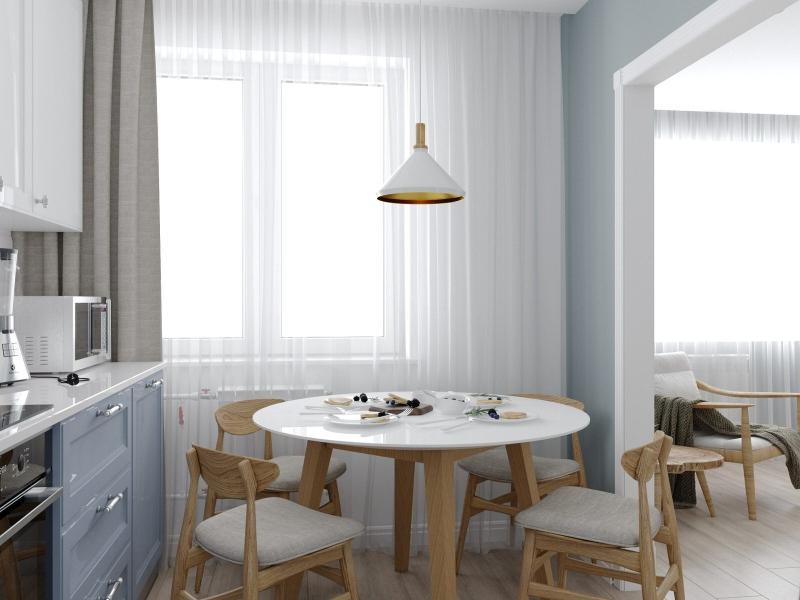 Кухня  хюгге, скандинавский интерьер