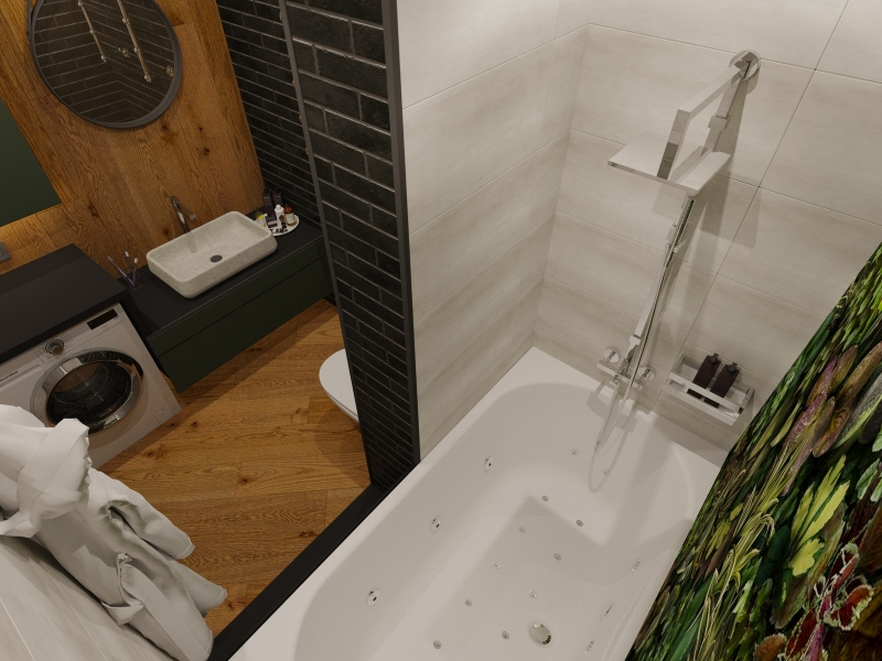Подключ Хабаровск дизайн интерьера ванной комнаты в стиле лофт