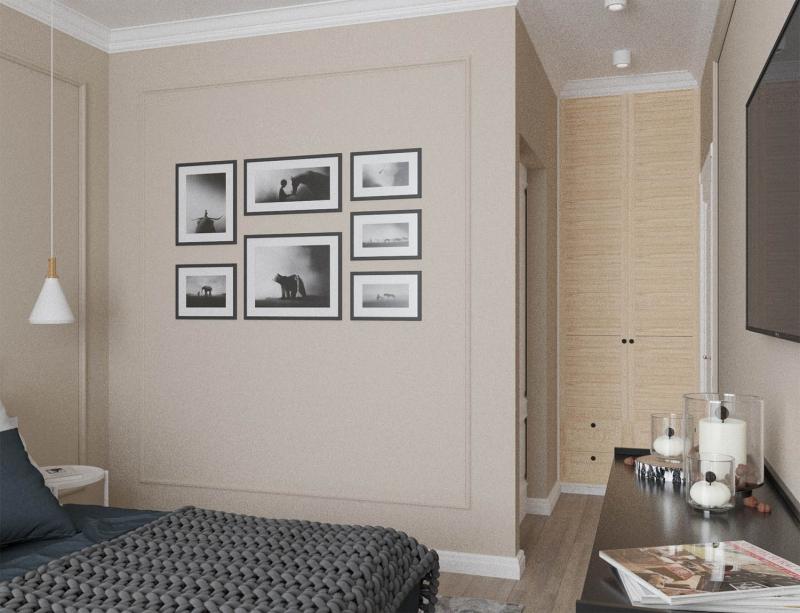 Спальня хюгге, интерьер в стиле хюгге, дизайн проект в стиле хюгге, дизайнеры Хабаровска, Визуализация в стиле хюгге, Визуализация Хабаровск