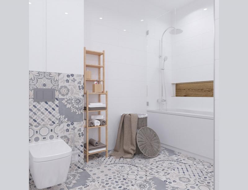 Ванная комната и туалет хюгге, скандинавский интерьер