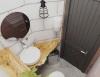 Интерьер сауны в стиле лофт, санузел, дизайн- проект студии Подключ