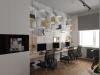 """Дизайн - проект интерьера офиса для компании """"Сотрудничество"""" в стиле лофт"""