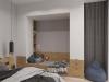 Эко-минимализм, дизайн спальни с детским уголком
